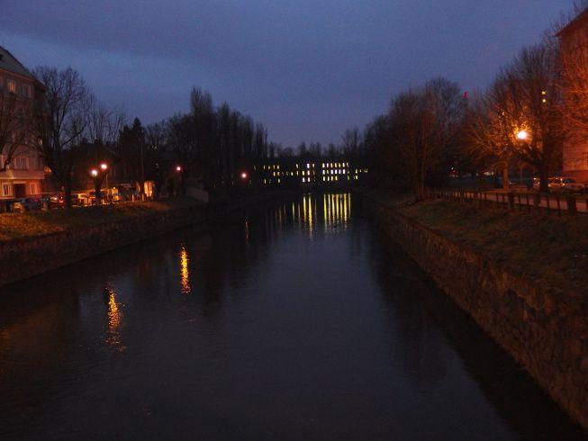 Olomouc, Czech republic at night - post on travel blog Czech Menu