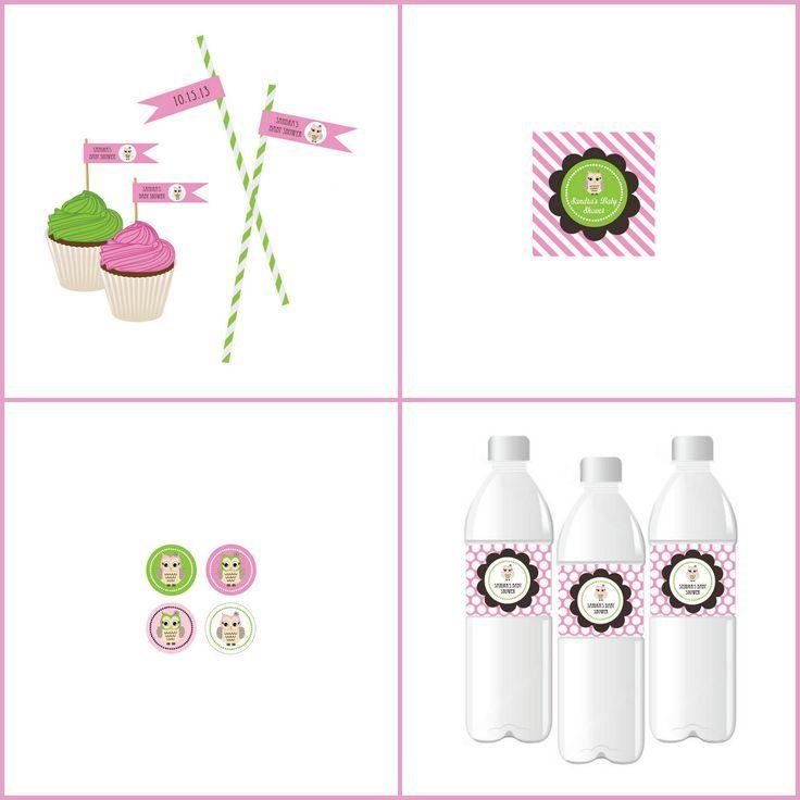 pink owl baby shower label from hotrefcom owl babyshower