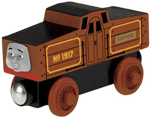 Thomas & Friends Wooden Railway - Stafford by Fisher-Price. $12.49. Stafford is made of real wood. Realistic engine details and styling. Expand your world of Thomas and Friends and create your very own Thomas adventures. Easy-to-use magnet connects to other engines. Works great with any Thomas and Friends Wooden Railway set. From the Manufacturer                Introducing our Stafford Wooden Railway Engine. Stafford is the new shunting engine on the island of Sodor. Staffo...