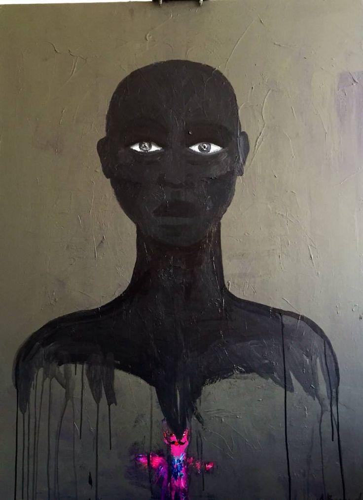 "Saatchi Art Artist Aga Baranska; Painting, ""Black Frida"" #art"