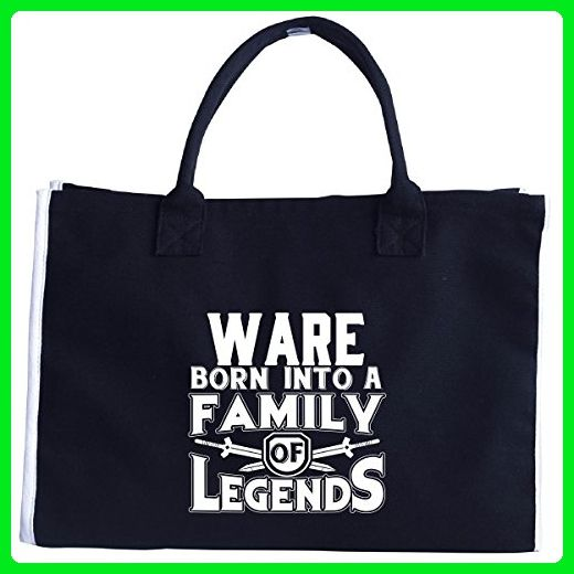 Ware Born Into A Family Of Legends - Tote Bag - Totes (*Amazon Partner-Link)