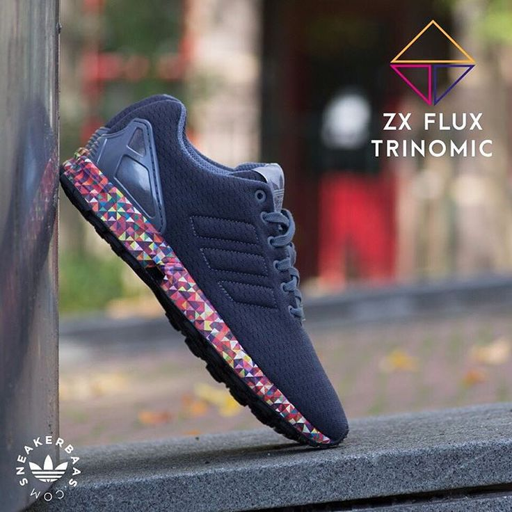 """#adidas #zxflux #adidasoriginals #originals #multicolor #sneakerbaas #baasbovenbaas  Adidas ZX Flux """"Multicolor Trinomic"""" - The Adidas ZX Flux is a Low-profile and great looking sneaker with a comfortable upper and technical Adidas Torsion sole.  Now online available 