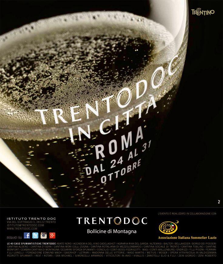 #Trentodoc in città #Roma, #evento promosso dall'Istituto Trento Doc in collaborazione con le singole case produttrici e #AIS di #vinispumanti #metodoclassico http://www.orientamentoalvino.com/3630-trentodoc-in-citta-roma