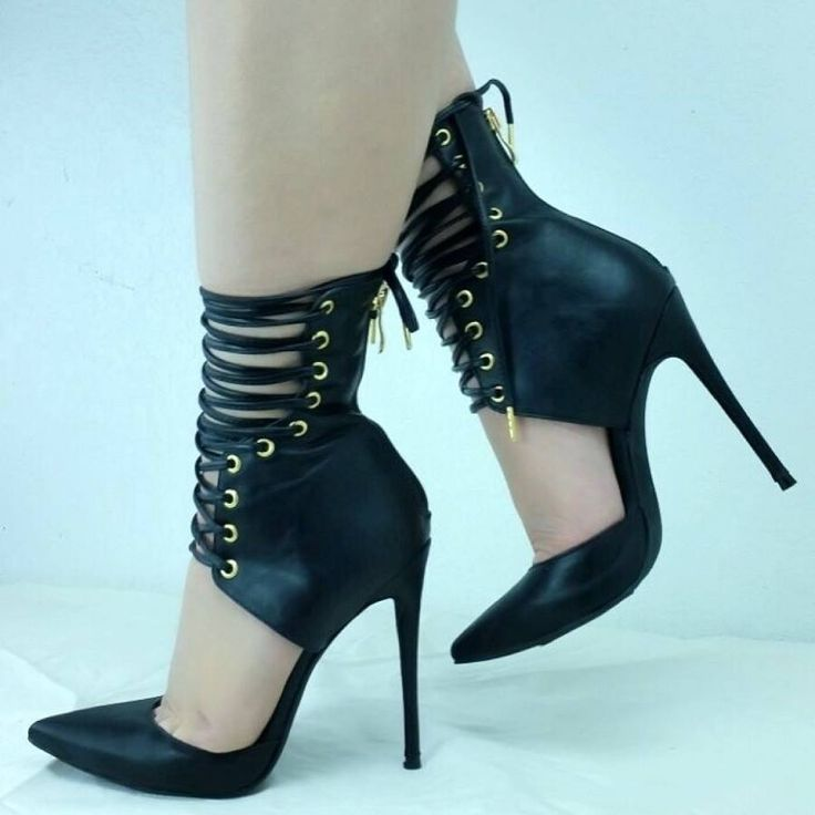 Shoespie Sexy Ankle Lace Wrapped Pointed Toe Stiletto Heels