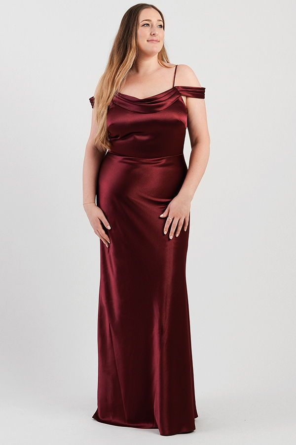 ce3c92289343 Jenny Yoo Bridesmaids, The Serena dress is an updated Sabine. It features a  pleated cowl neck for a romantic detail and off the should sleeves for a ...