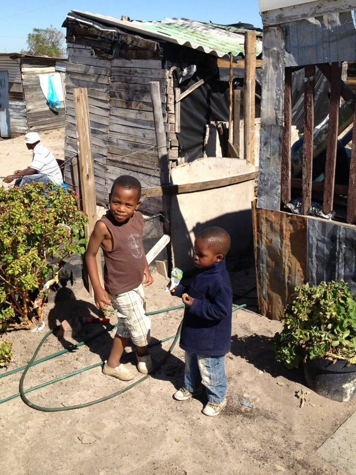 These two boys living in a shanty outside of Cape Town hope to move into a Niall Mellon Township Trust home similar to the one PRGN built this week in Witsand, a township outside of Cape Town.