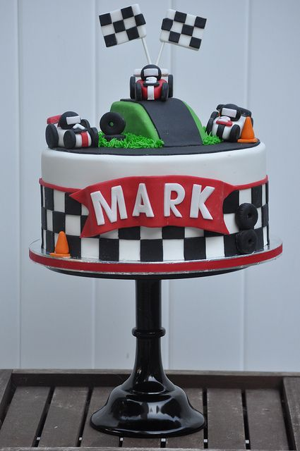 Best Racing Cakes Images On Pinterest Race Car Birthday Race