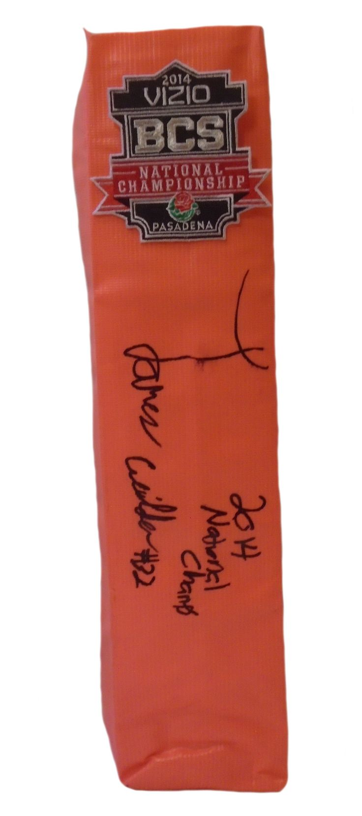 James Wilder Jr signed Florida State Seminoles full size football touchdown end zone pylon w/ proof photo.  Proof photo of James signing will be included with your purchase along with a COA issued from Southwestconnection-Memorabilia, guaranteeing the item to pass authentication services from PSA/DNA or JSA. Free USPS shipping. www.AutographedwithProof.com is your one stop for autographed collectibles from FSU Noles & NCAA teams.