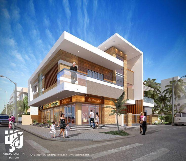 Exterior Home Design India: #villa #3DRENDER DAY VIEW BY Www.hs3dindia.com @nirlepkaur