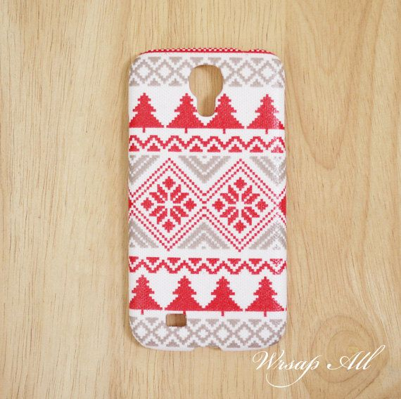 Christmas cross stitch pattern Samsung Galaxy S4 case / by WrapAll, $16.90