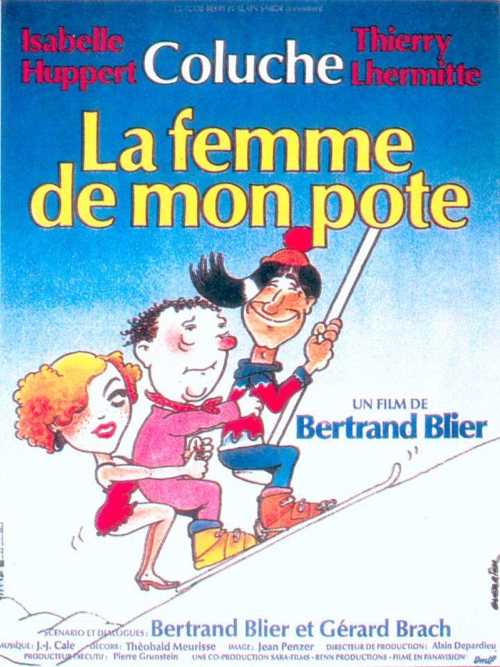 La Femme de mon pote est un film français réalisé par Bertrand Blier, sorti en 1983. Courchevel. Pascal (Thierry Lhermitte), gérant d'un magasin de vêtements de sport d'hiver et Micky (Coluche), disc-jockey à la station de radio locale, malgré des caractères dissemblables, sont amis de longue date. Pascal, beau garçon, sûr de lui mais fragile, a du succès avec les filles à l'inverse de Micky, plutôt solitaire et taciturne.