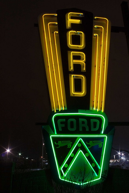 Vintage Neon Ford Sign
