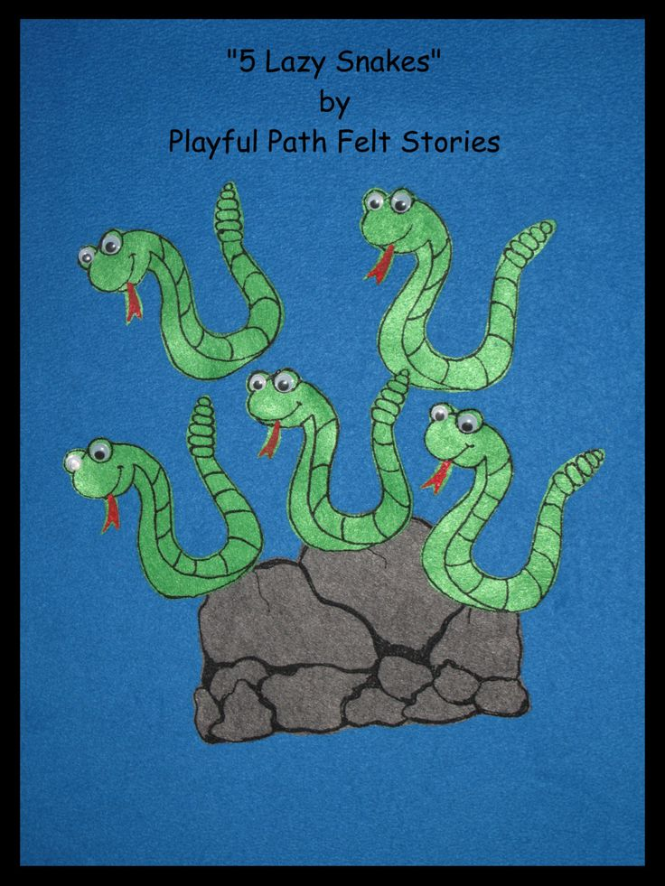 5 Lazy Snakes Felt Story by PlayfulPathFelts on Etsy