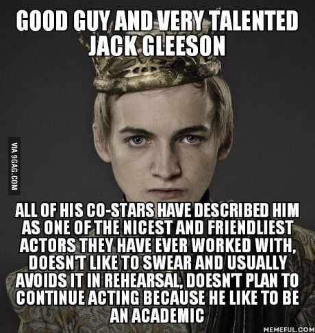 Joffrey is a dick. Jack is a ray of sunshine.