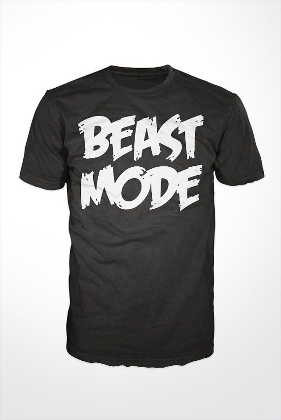 Beast Mode TShirt  workout tee mens shirt gift by GetSnacks, $16.99