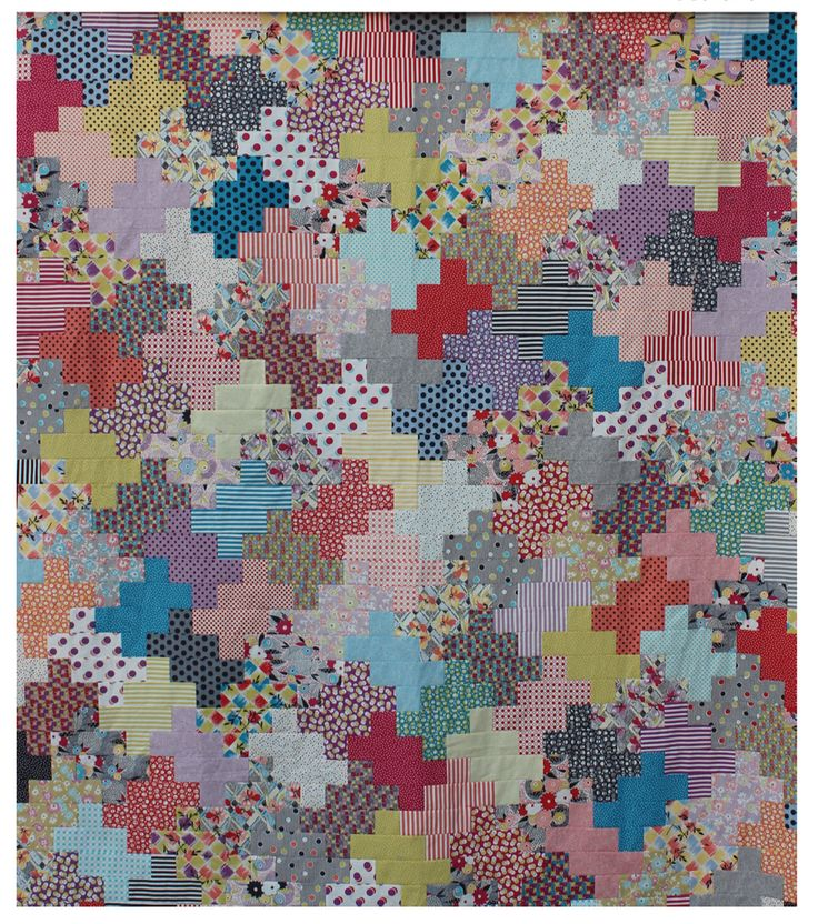 Gene Pool Quilt Kit  :  Featuring Gardenvale by Jen Kingwell Designs for Moda Fabrics, this quilt was inspired by a magazine photo of a knit top in two colors