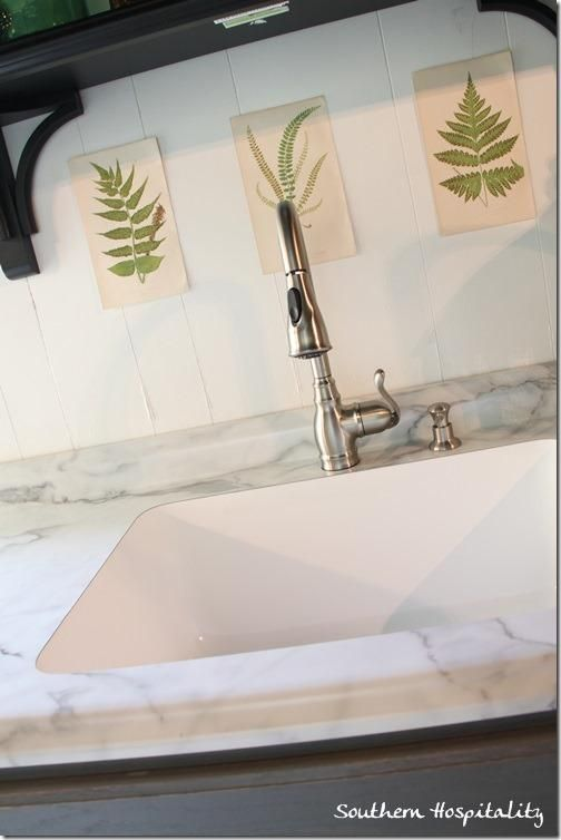 Formica 180fx Calacatta Marble and an undermount sink