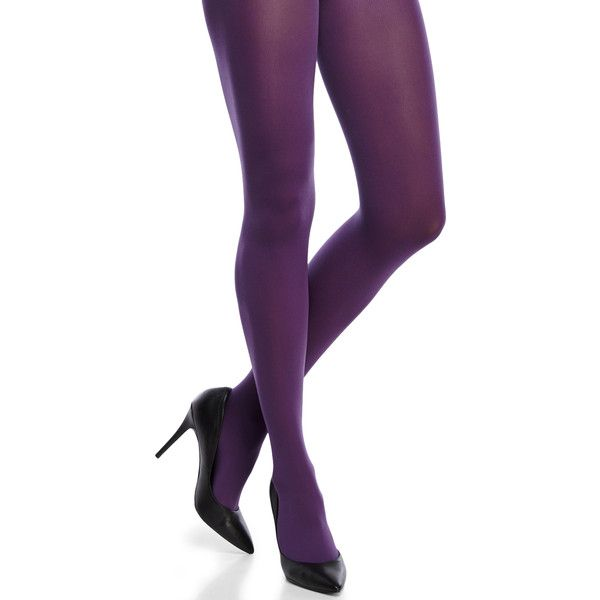 Hue Ultimate Opaque Control Top Tights ($6.49) ❤ liked on Polyvore featuring intimates, hosiery, tights, doll legs, purple, purple tights, hue pantyhose, nylon pantyhose, purple opaque tights and nylon hosiery