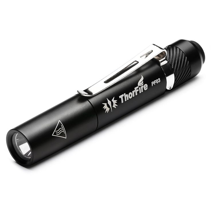 ThorFire PF03 Pen Flashlight LED Pen Light Super Bright EDC Mini Pocket Torch Use One AAA Battery (Not Included) ** This is an Amazon Affiliate link. See this great product.