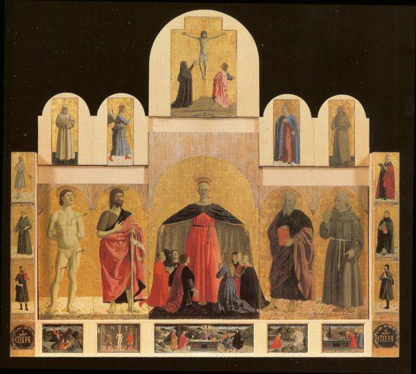 polyptique de la Miséricorde (Sansepolcro) - commande de 1445 - Monterchi - Piero della Francesca