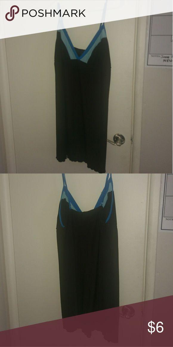 Blue and black nightie lingerie XXL 2x XXl silky nightie Intimates & Sleepwear Chemises & Slips
