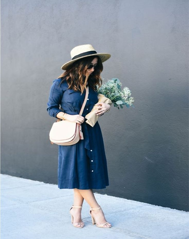 12 Denim Dresses For The Smart Casual Look #Fashion  https://seasonoutfit.com/2018/03/08/12-denim-dresses-smart-casual-look/