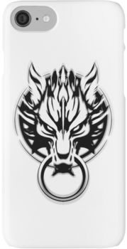 Cloud Strife's Wolf Emblem (Black) iPhone 7 Cases
