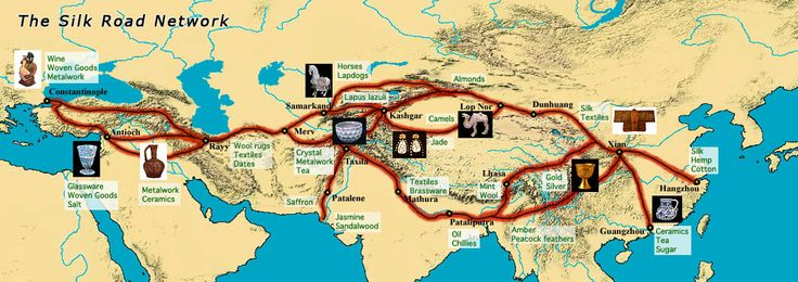 0010 Tourist Map Of Silk Road Silk road map, Silk road china