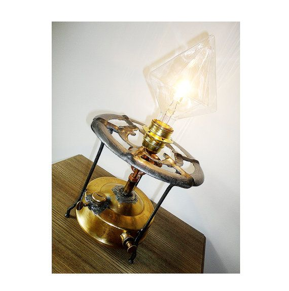 Antique Brass Primus Camping Stove by HandMadeProjects4u on Etsy