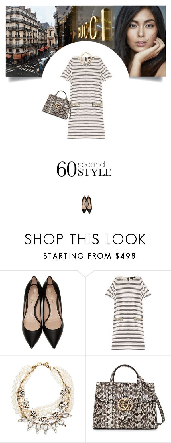 """""""Untitled #296"""" by soledestate ❤ liked on Polyvore featuring Gucci, Nicholas Kirkwood, Tara Jarmon, Lulu Frost, tshirtdresses and 60secondstyle"""