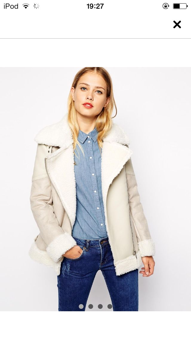 Asos, denim on denim, coat