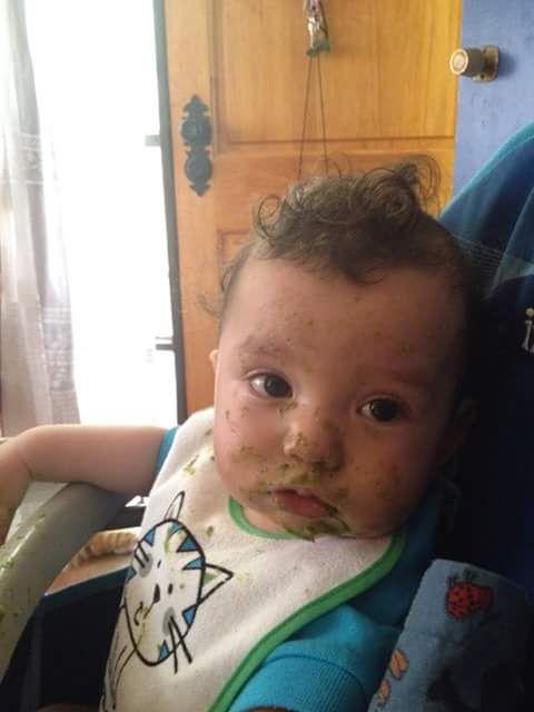 Este fue el día en que Kitty se preguntó qué pasaría si dejaba que su bebé comiera solo...no lo han vuelto a intentar https://instagram.com/babytuto/