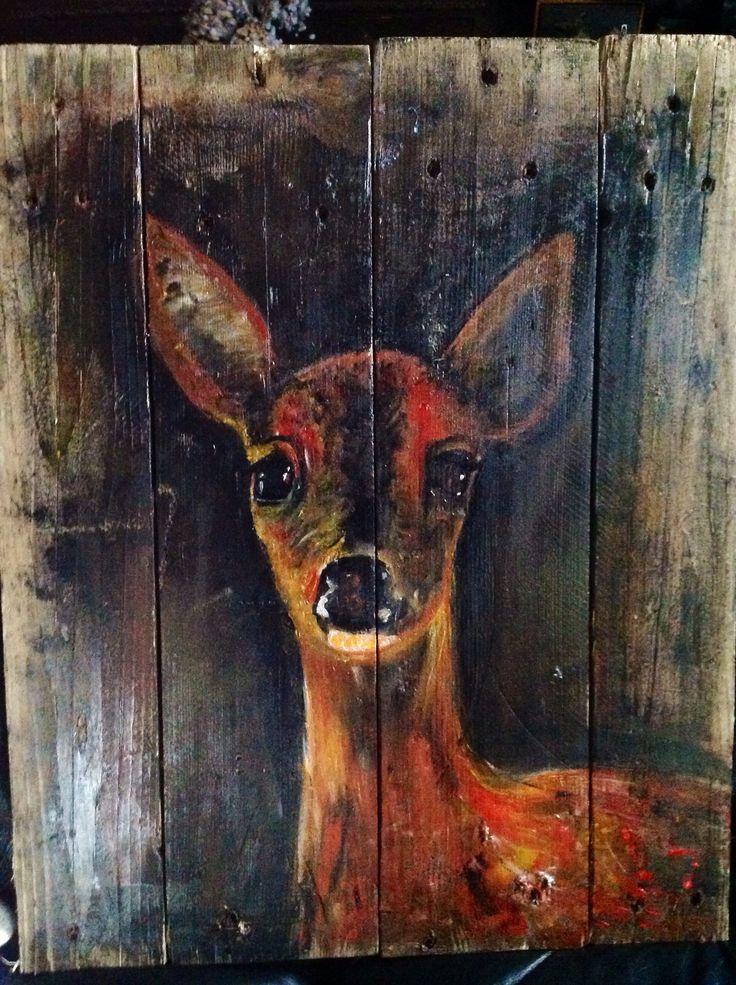 Deer on wood