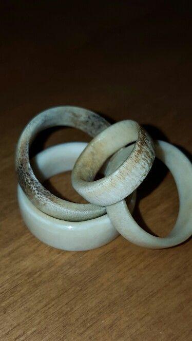 Hand made Deer antler rings