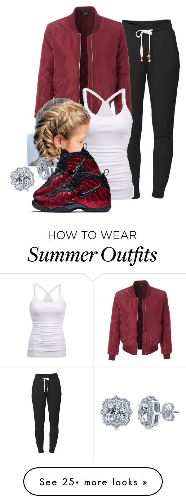 """""""11-11-16"""" by janay1206 on Polyvore featuring Lija, LE3NO, American Eagle Outfitters, BERRICLE and NIKE"""