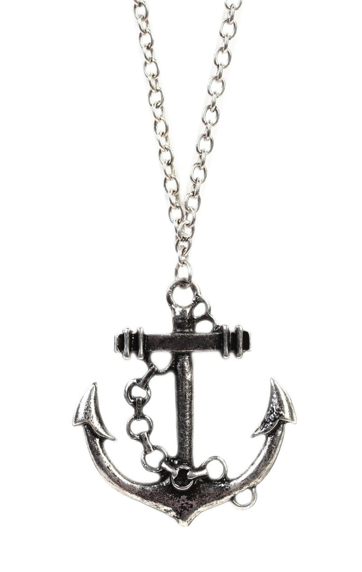 Deb Shops long #necklace with #anchor