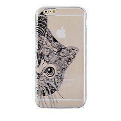 de zwarte kat patroon transparante telefoon zaak terug Cover Case voor iPhone 6s 6 plus – EUR € 2.93