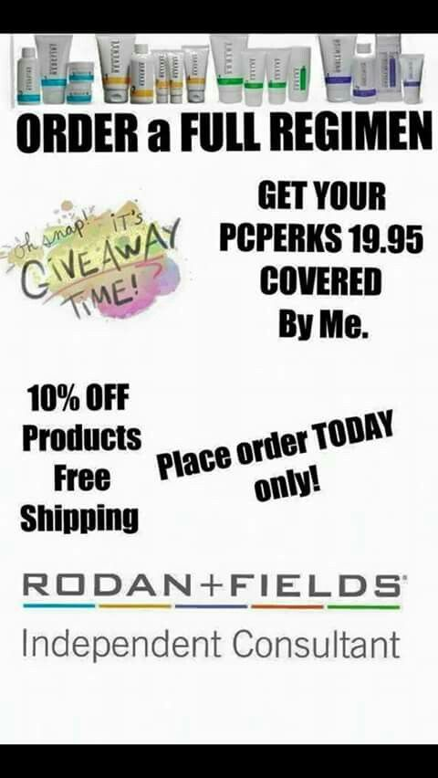 I want to help you get your #BestBeautifulSkin today by offering to pay for your PC Perks enrollment when you purchase a #RodanandFields #skincare regimen! #LovetheSkinYourIn and save $ while helping me celebrate my husbands return! It's gonna be a great day! Http://BestBeautifulSkin.myrandf.com