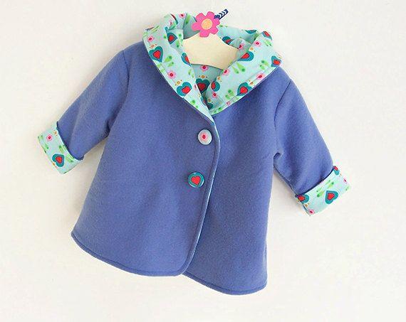 CORAZONES con capucha bebé niña niño chaqueta patrón por PUPERITA