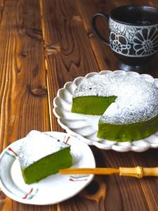 抹茶お豆腐ケーキ