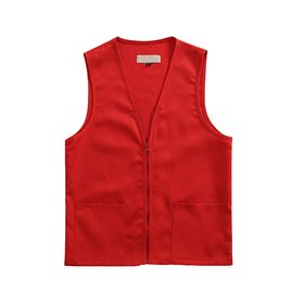 Opentip.com: Custom Adult Volunteer Uniform Vest Polyester Zipper Supermarket Activity Vest