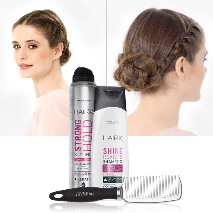 For a festive summer occasion, we are choosing an elegant chignon – updated with braiding, of course.To perfect this look, we recommend:HairX Strong Hold Styling Hairspray, HairX Shine Reviver Shampoo and a Detangling Comb.