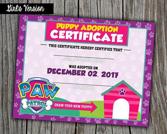By purchasing this listing you will receive printable digital certificate for your party guests! ♥ Size 5''x 7'' (See other listing for bigger size) ♥ High Resolution JPEG ♥ Designed with love! --------------------------------------- :::: ORDERING PROCESS ::::