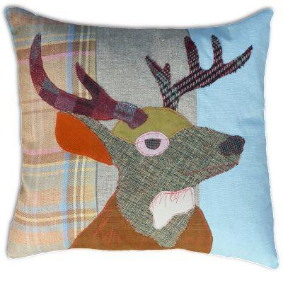 Stag Cushion by Carola van Dyke