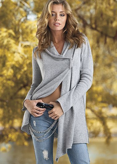 Great jacket to throw on over workout gear. Running errands. Get the best deals on fall sweaters at Simba Deals! Check us out: bit.ly/1sQco20