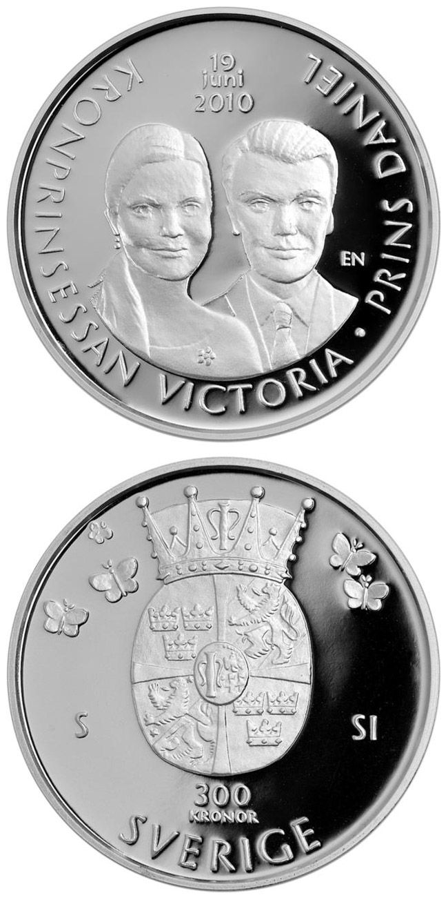 300 kronor: The wedding of Crown Princess Victoria and Daniel Westling on 19 June 2010