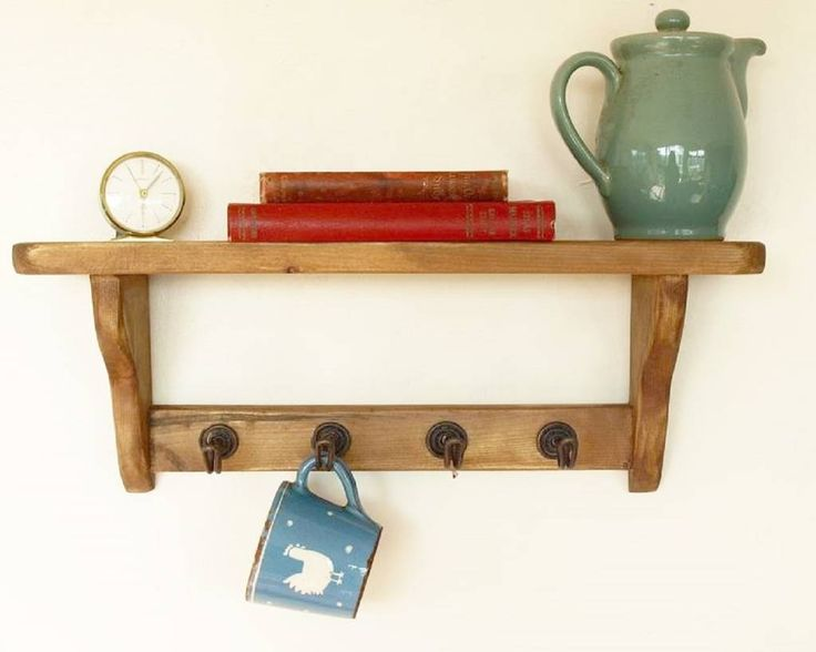Exceptionnel Unpainted Kitchen Shelf With Cup Hooks Stands Rails U Hanging Space With Kitchen  Shelves With Cup Hooks.