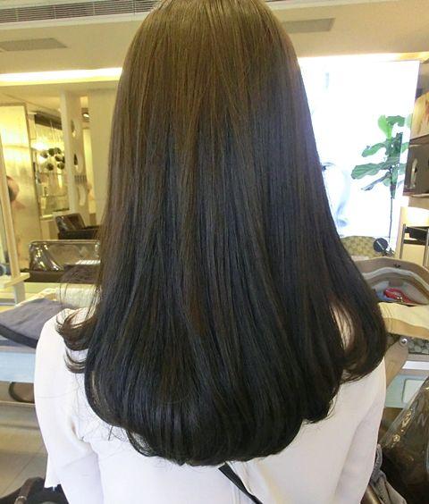 Korean c curl hair style