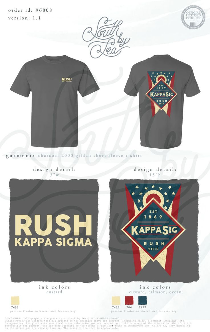 Kappa Sigma | Kappa Sig | K Sig | Rush Kappa Sigma | Patriotic Rush Tee Shirt Design | South by Sea | Sorority Shirts | Sorority Tanks | Greek Shirts