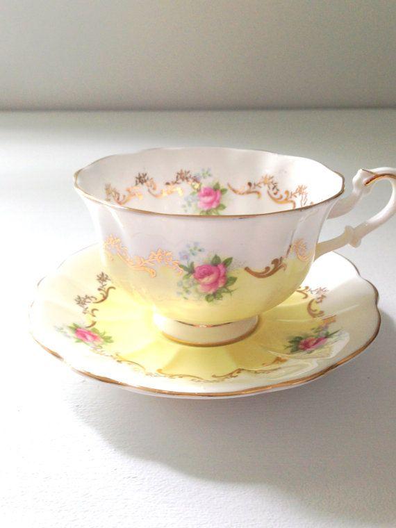 ~ Gorgeous English Bone China Royal Albert Teacup & Saucer by MariasFarmhouse, $ ...